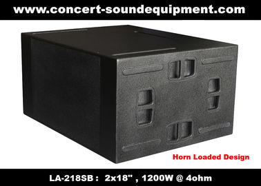 "Chiny Linia Array Sound System / 2x18 ""Horn Loaded 4Ohm 1200W Subwoofer Na koncert i Living Event dystrybutor"